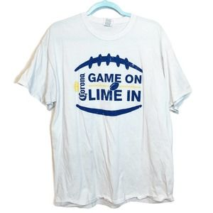 Men's Corona Beer Game On Football Sports T-Shirt